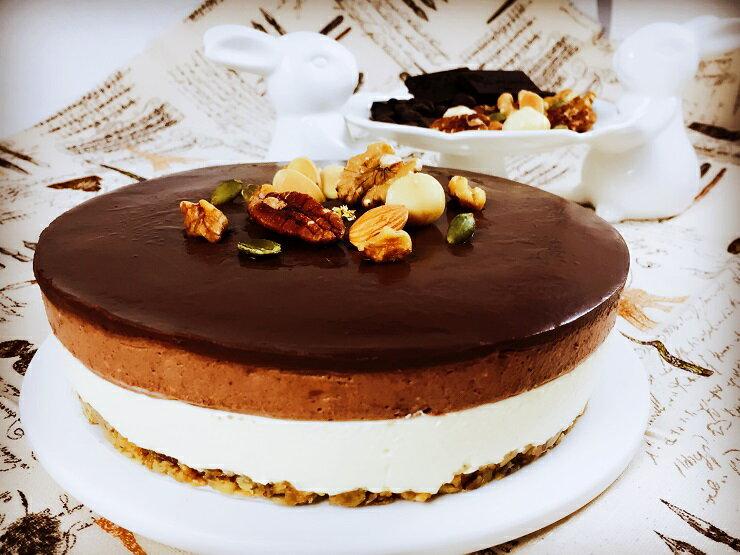歐妃手做甜點小舖 聖伊諾^(葷^)~ 莊園可可堅果乳酪蛋糕^(7吋^) ~  好康折扣