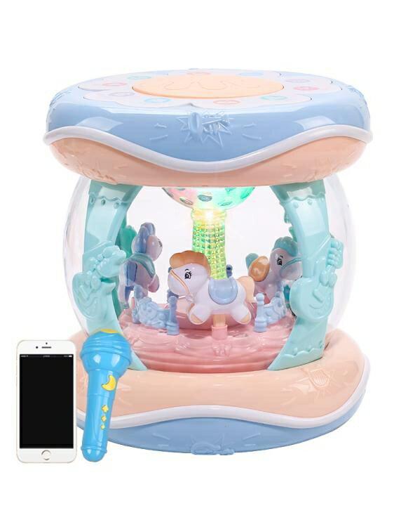 益智玩具 寶寶音樂手拍鼓兒童拍拍鼓充電早教8益智1歲0-6個月一六嬰兒玩具3 摩可美家