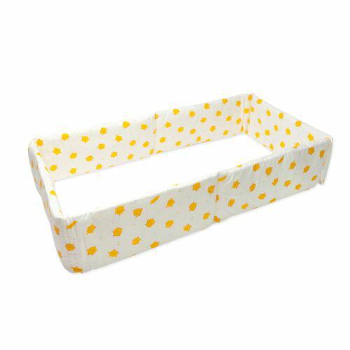 ★衛立兒生活館★1A2B 嬰兒床護圍(加高型)(藍/黃小雞/米白)