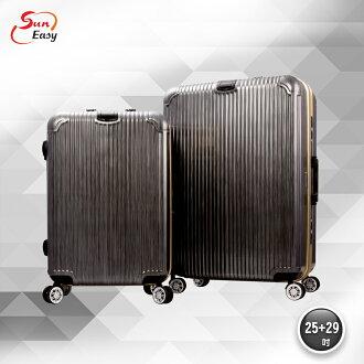 【SunEasy生活館】SunEasy頂級旗艦鋁框硬殼行李箱29吋(鐵灰)
