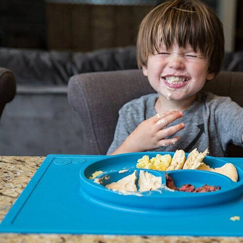 美國EZPZ矽膠幼兒餐具-HAPPYMAT快樂防滑餐盤