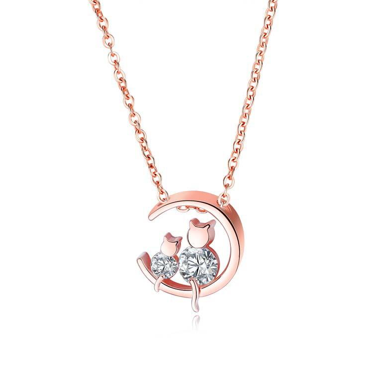 ~5折 價~ 精美可愛動物鑲鑽 女款項鍊
