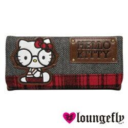 【Loungefly】Hello Kitty聯名款長夾-學院風LFSANWA0414《品文創》