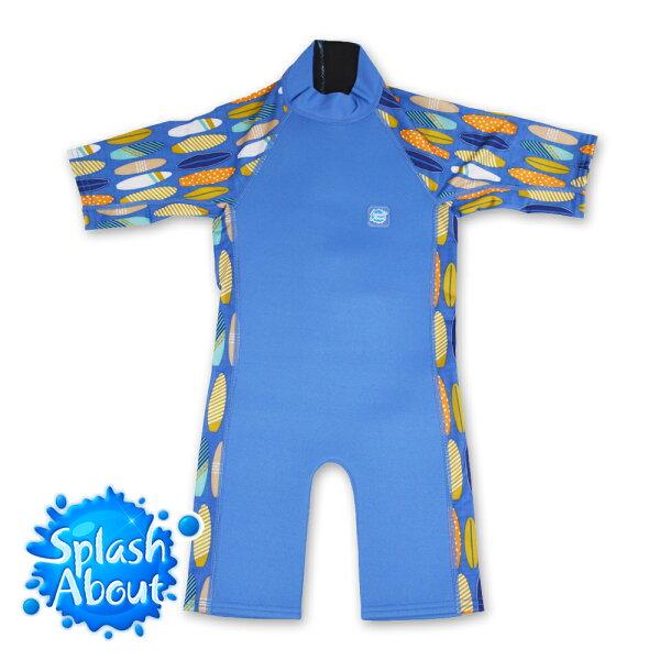 《Splash About 潑寶》UV Combie 兒童抗UV防寒連身泳裝 - 衝浪小子