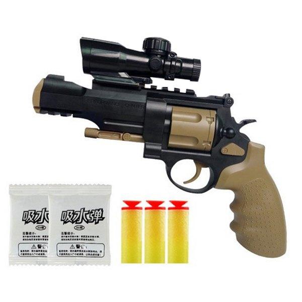 【888便利購】M09吸水子彈左輪手槍+吸盤槍