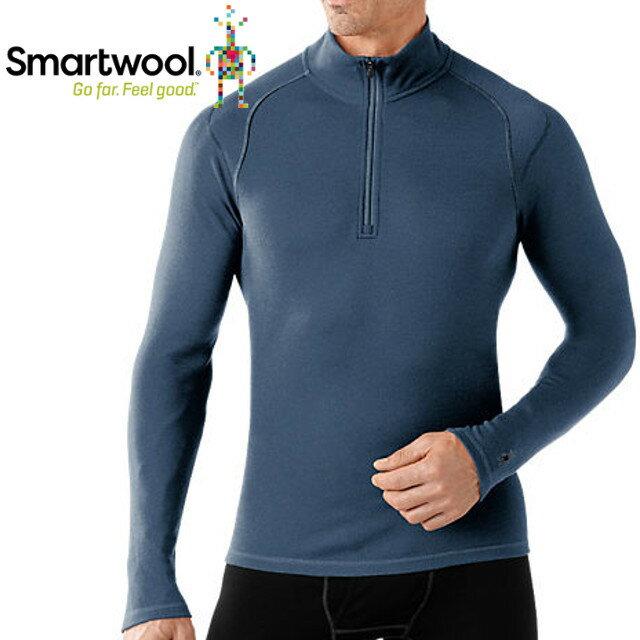 Smartwool/排汗衣/保暖/內搭衣/出國/旅遊/背包客/滑雪/聰明羊/美麗諾羊毛 高領毛衣 SS603 352 深鋼鐵藍男款