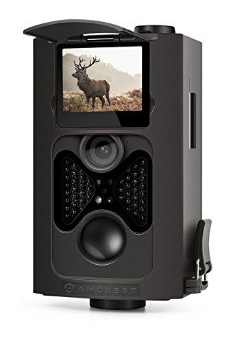 "Amcrest ATC-802 720P HD Game and Trail Hunting Camera - 8MP Dynamic Capture, Integrated 2"" LCD Screen, High-Sensitivity Motion Detection with Long Range Infrared LED Night Vision up to 65ft 0"