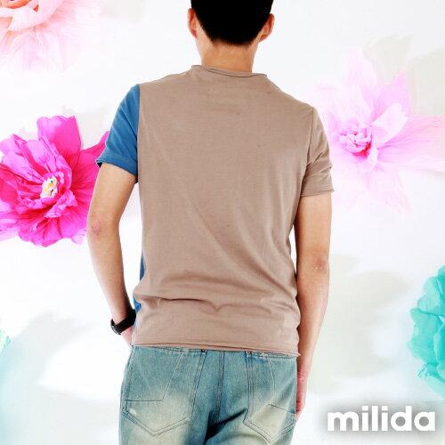 【Milida,全店七折免運】男生款-獨家設計情侶款T恤 2