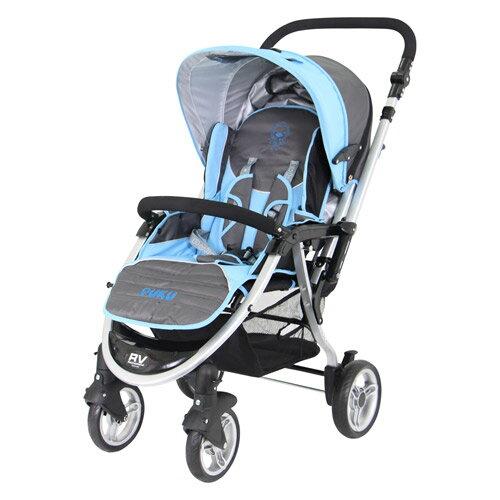 【奇買親子購物網】PUKU 藍色企鵝 小U型雙向推車?