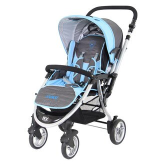 【奇買親子購物網】PUKU 藍色企鵝 小U型雙向推車