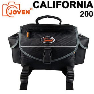 ★JOVEN 加州 CALIFORNIA 200 專業相機包 一機三鏡 相機包 專業攝影包 防潑水 附雨套 含三腳架固定帶功能設計