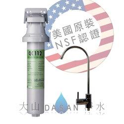 《贈前置》 美國水樂 Selecto QC112-ST 長效活性碳淨水器套裝組合 美國原裝進口 搭載NSF認證鵝頸龍頭