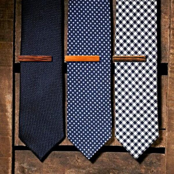 原木雅痞時尚百搭領帶夾