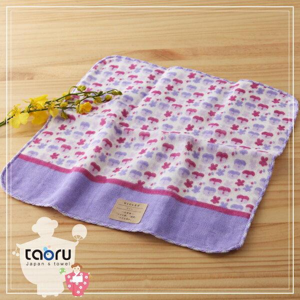 taoru:日本毛巾:町娘物語_紫羅蘭25*25cm(手巾花屋篇--taoru日本毛巾)