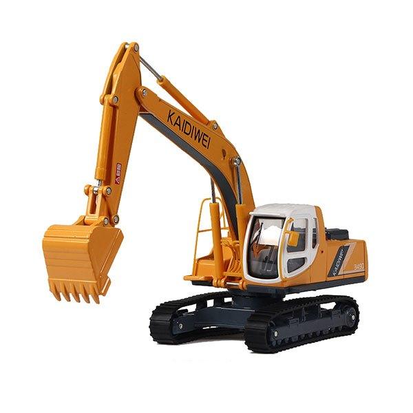 【888便利購】【KDW凱迪威】1:40高仿真合金挖土機(黃色)(有音效)(622006)(高質量模型)(授權)