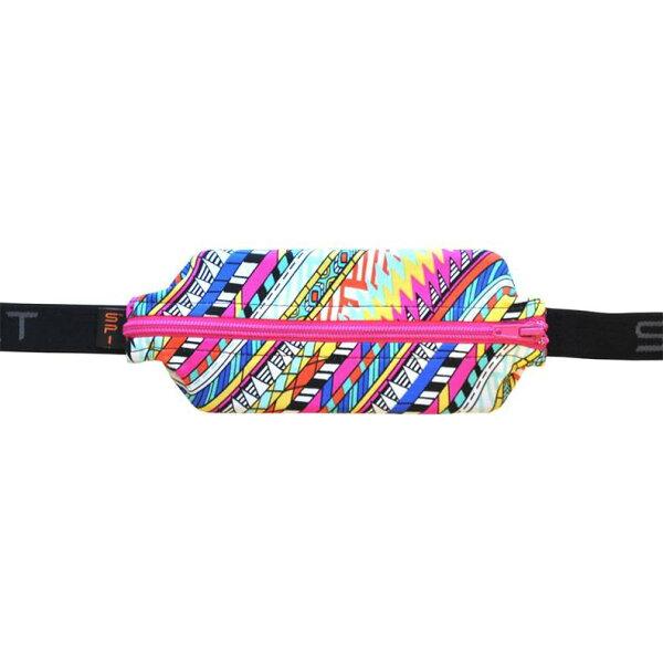 騎跑泳者FINISHER:SPIBELT彈性腰包加大款(限量特仕版-JOULE)焦耳彩紋粉紅鍊