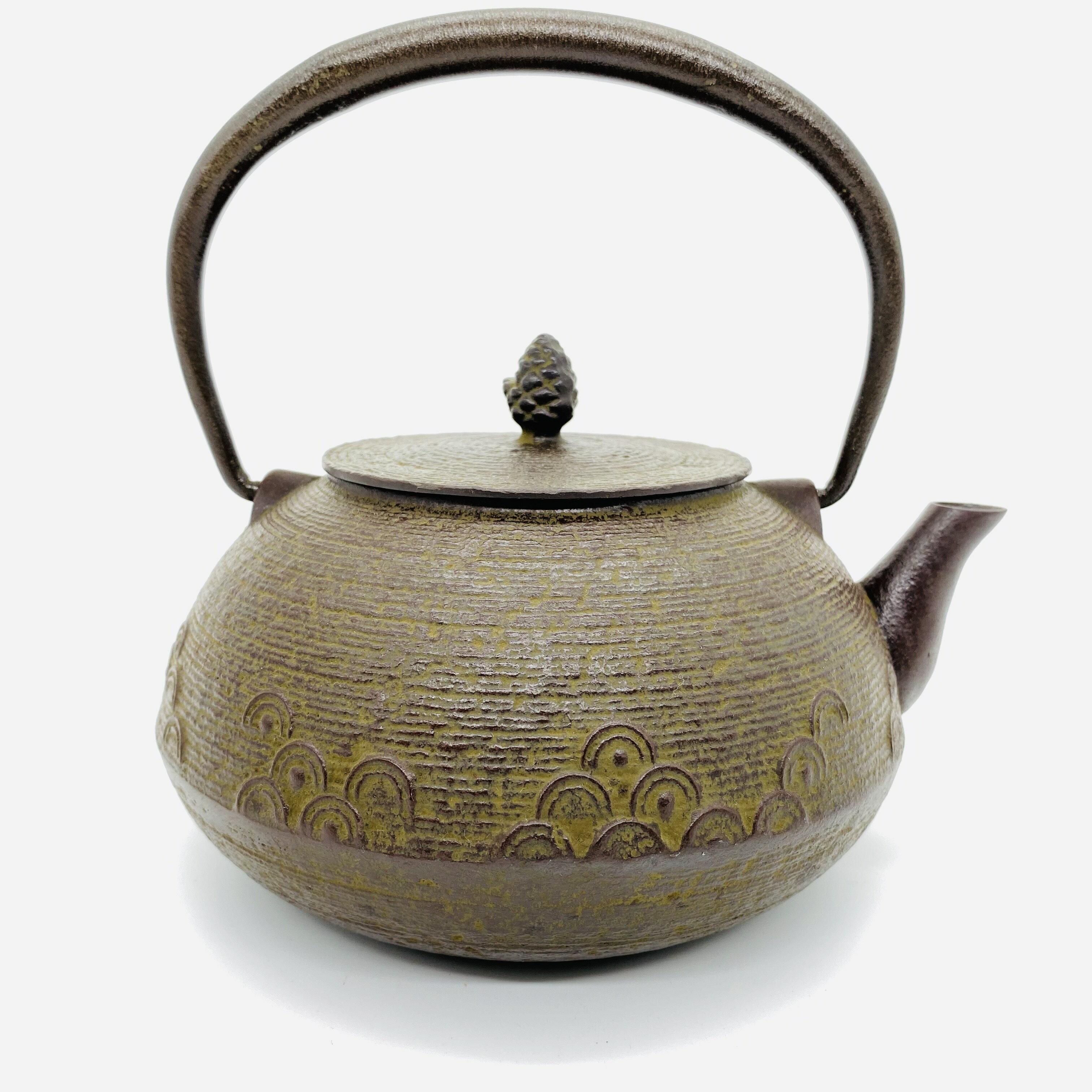 日本 本場南部鐵器-【佐藤勝久 平丸型 系目波紋 1.2L】鐵壺 鉄瓶 煮水 泡茶 只有1個 4
