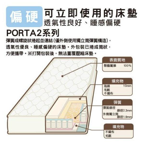 ◎(網購限定)單人彈簧床 床墊 連續彈簧 PORTA2 TW NITORI宜得利家居 4