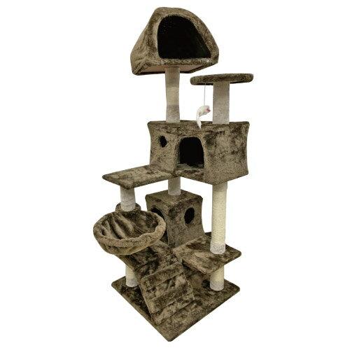 日本寵喵樂 豪華方塊大台 貓跳台/貓爬窩/貓抓 TW003-咖啡色
