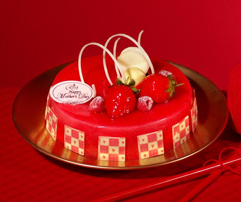 【羅撒蛋糕】生日蛋糕~「俏佳人」|草莓覆盆子慕斯蛋糕|6吋~8吋