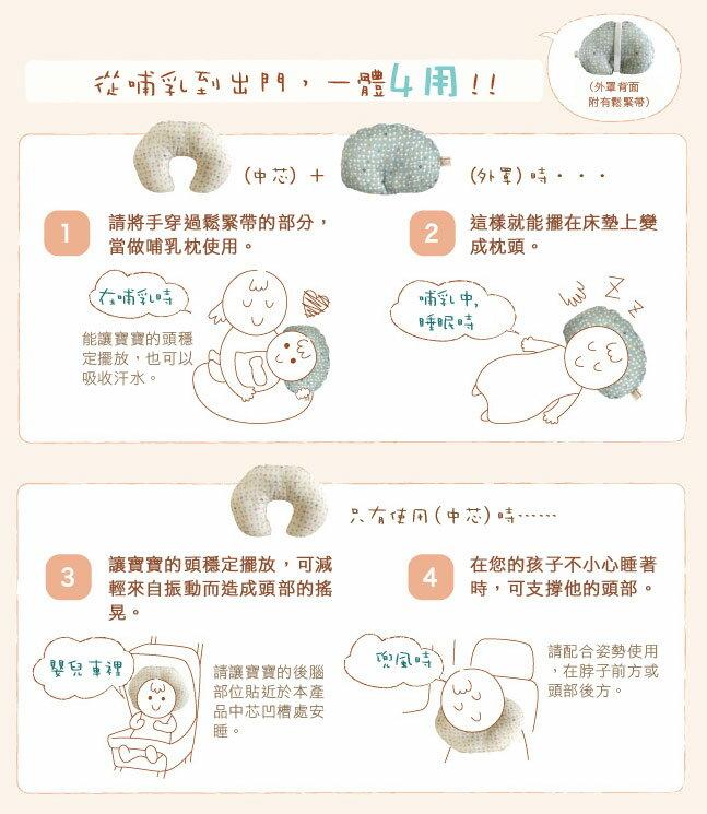Hoppetta - Naomi Ito - 彩虹波點多功能嬰兒枕 (繽紛) 3