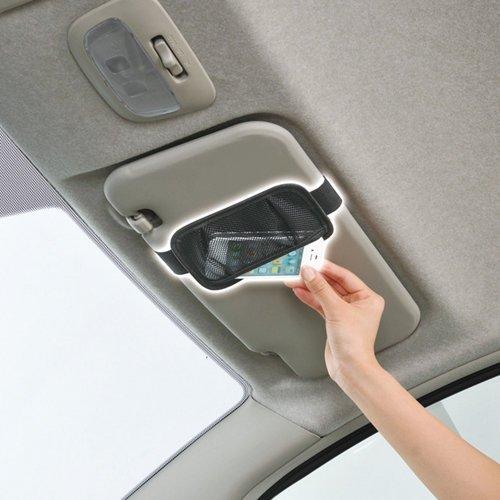 權世界~汽車用品  SEIWA 遮陽板便利 置物袋 智慧型手機收納袋 W742