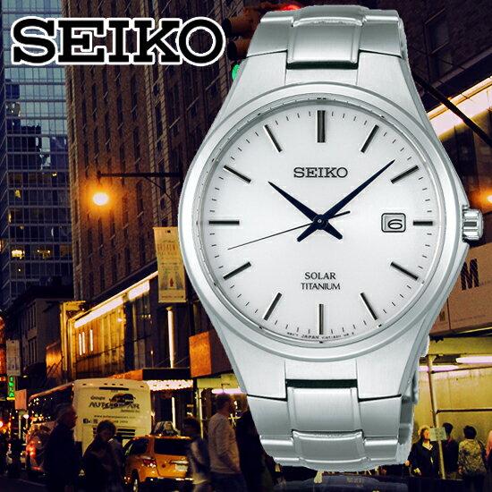 SEIKO日本精工王力宏代言SPIRIT太陽能鈦金屬紳士腕錶V157-0BB0WSBPX073J公司貨