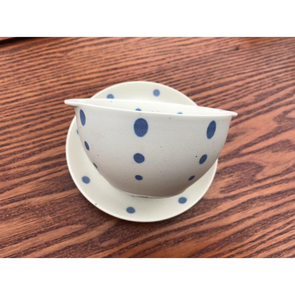 小糖瓷⎥日本製 雙耳陶味點點碗碟組 2
