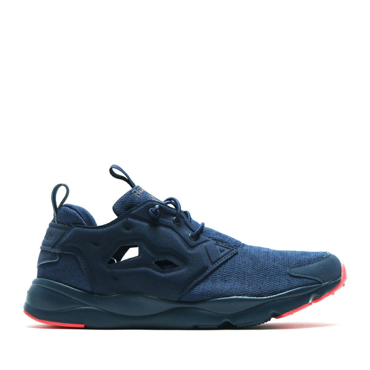 《限時特賣↘7折免運》REEBOK FURYLITE SOLE 女鞋 慢跑鞋 休閒 網布 襪套 海軍藍 粉紅 【運動世界】 BD4626