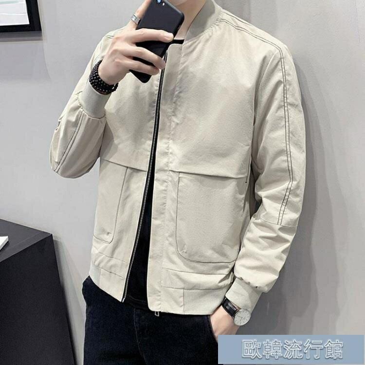 外套男士新款韓版潮流工裝夾克休閒帥氣百搭秋季上衣服男裝