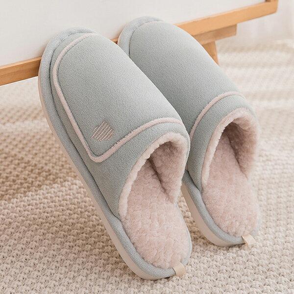 情侶室內拖鞋 情人節好禮 日式簡約 絨毛保暖拖鞋 J HOME+ 就是家 樂天2020 1
