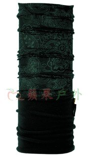 【【蘋果戶外】】BUFFBF101080西班牙魔術頭巾游龍戲鳳黑兩段式保暖頭巾Polartec