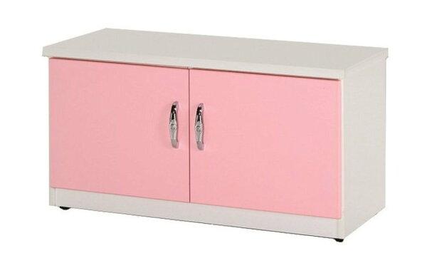 【石川家居】852-03(粉紅白色)座鞋櫃(CT-306)#訂製預購款式#環保塑鋼P無毒防霉易清潔