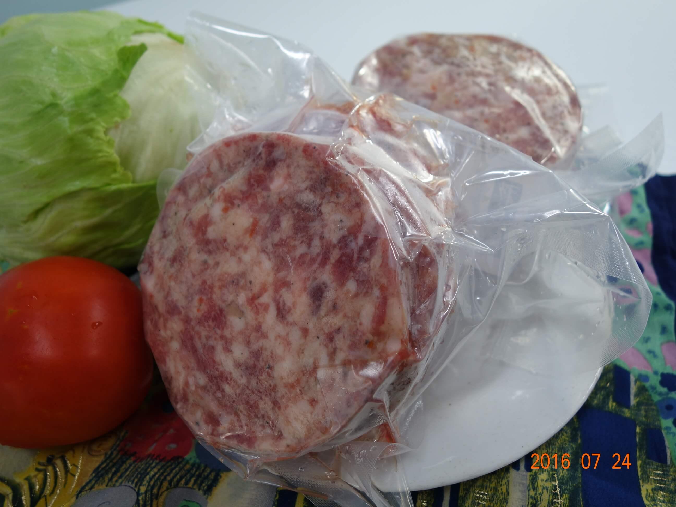 【阿丁健天然食品工坊】豬肉漢堡肉 容量 : 600公克/七片裝