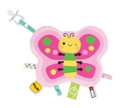 拉孚兒 一手掌握布標安撫巾 - 蝴蝶『121婦嬰用品館』