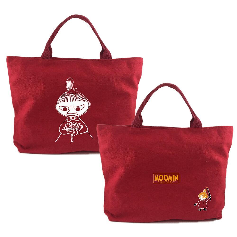 【MOOMIN】AE03 (紅) - 拉鍊帆布包