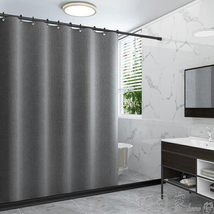 加厚浴室沐浴簾衛生間防水布日本防黴洗澡免打孔隔斷簾子掛簾套裝