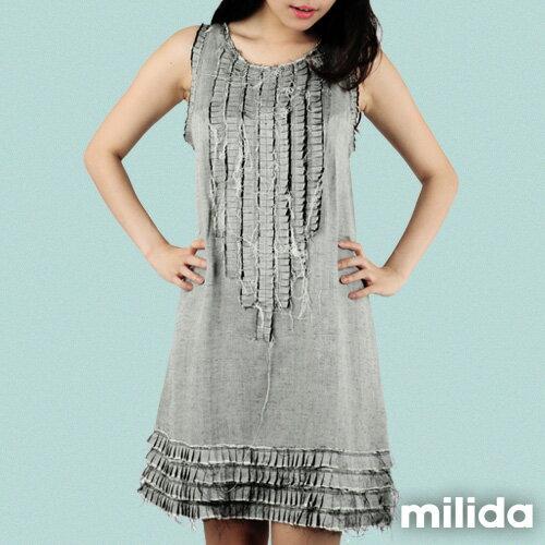 【Milida,全店七折免運】-早春商品-無袖款-氣質嚴選洋裝 2