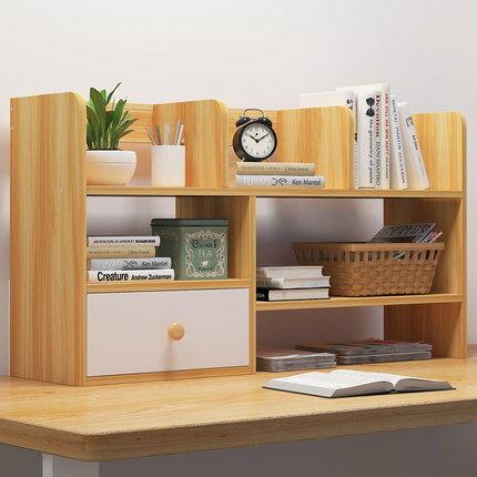 簡易桌上書架 書桌收納架簡約學生宿舍桌上書架辦公桌小架子書櫃桌面小型置物架 『MY6823』