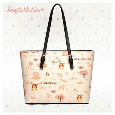 側背包-北包包小清新塗鴉印花大容量托特包AngelNaNa【BA0295】