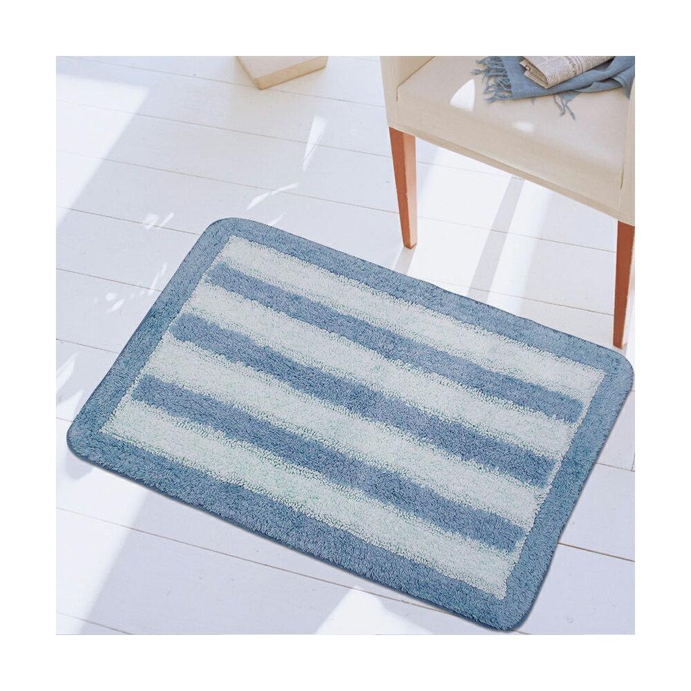 【華爾特】純棉提花踏墊-藍色(40x60cm)