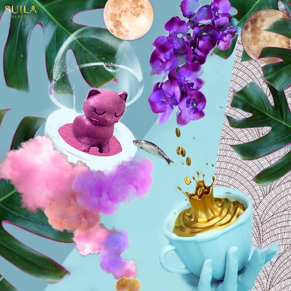 水菈TICK&LICK 3D立體萌寵 彩妝蛋#紫藤貓★療癒系多用途彩妝★眼影腮紅提亮三合一