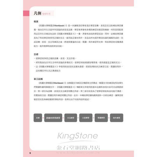 高麗大學韓國語(1)Workbook 2