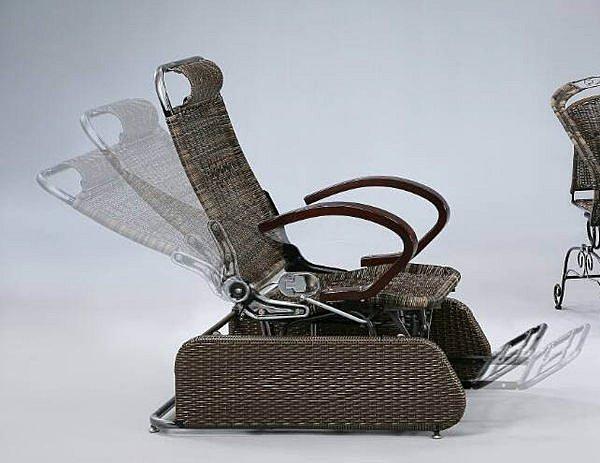 【尚品傢俱】419-33 卓樂 多功能銀鐵搖椅/躺椅/藤製家具