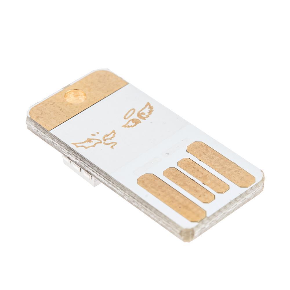 Pocket Card Lamp Bulb LED Keychain Mini LED Night Light Portable USB Power White 1