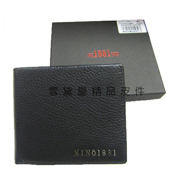 ~雪黛屋~18NINO81短夾專櫃男仕短夾100%進口牛皮標準尺寸固定型證件夾附品牌禮盒BNI1560960