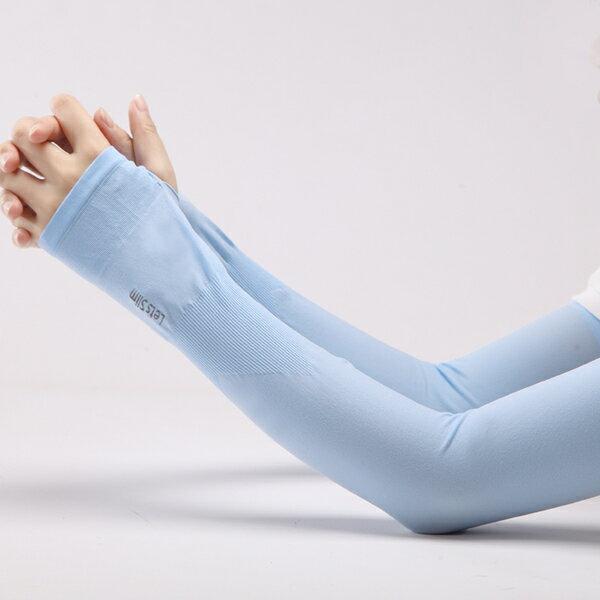 [Hare.D] 韓版 lets slim 指套版 冰絲袖套 3D袖套 防曬袖套 高爾夫球袖套 單車袖套 抗UV