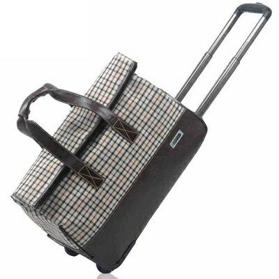 行李袋 旅行拉桿包 -拼接PU皮革防水格紋手提男女商務包 2款73b6【獨家進口】【米蘭精品】