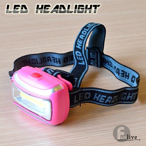 【aife life】LED頭戴燈/三段式頭燈/露營/夜遊/帽燈/手電筒/夜釣魚/工作照明/夜騎/贈品/禮品