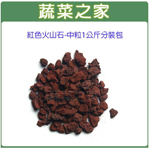 【蔬菜之家001-AA90】紅火山石-中粒1公斤分裝包